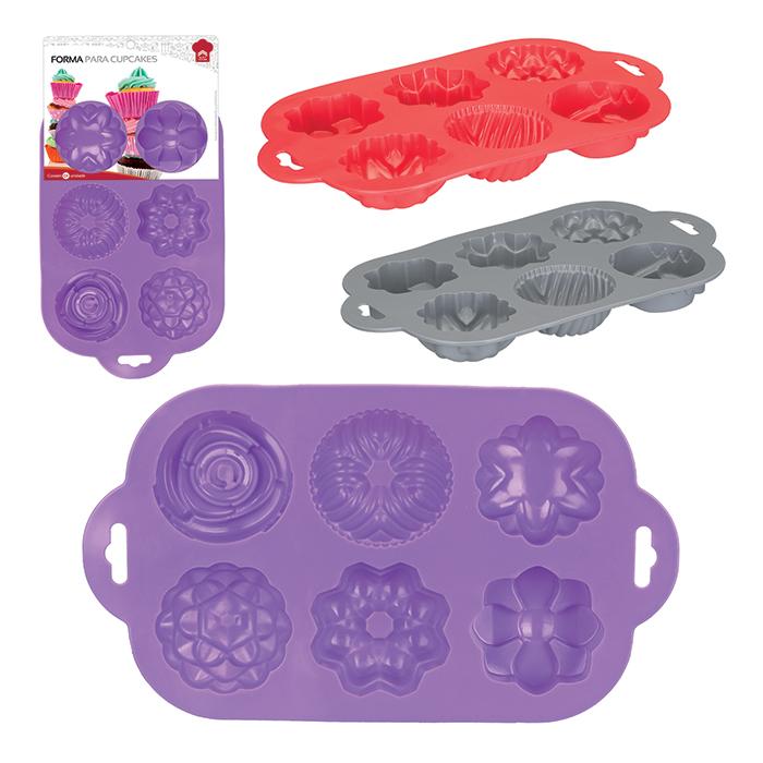 Kit 02 formas de silicone para cupcakes de vários desenhos
