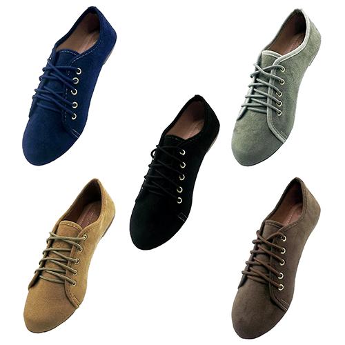 Sapato Oxford camurça