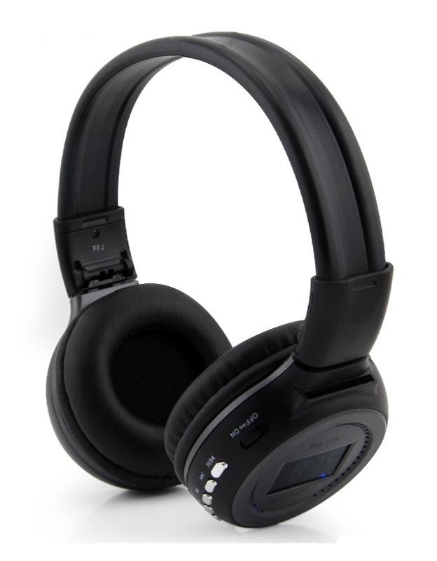 Fone de Ouvido Sem Fio MP3 Com Display