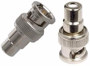 Conector Adaptador Bnc Macho X Rca Fêmea