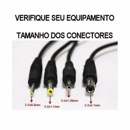 Carregador De Tomada Para Tablets Conector 3,5mm 9v
