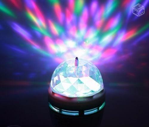 Lâmpada Rotativa De Led Colorida Para Festas E Eventos