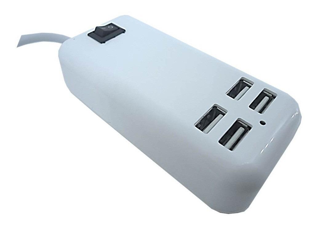 Hub Usb 4 Portas Extensão Elétrica Carregador 15w 5v Tomada