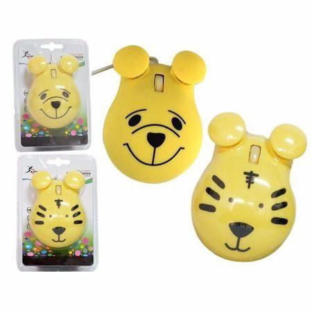 Mouse Panda Amarelo Knup 1600dpi Com Fio