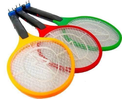 Raquete Elétrica Recarregável Bi-volt Mata Mosquito, Moscas