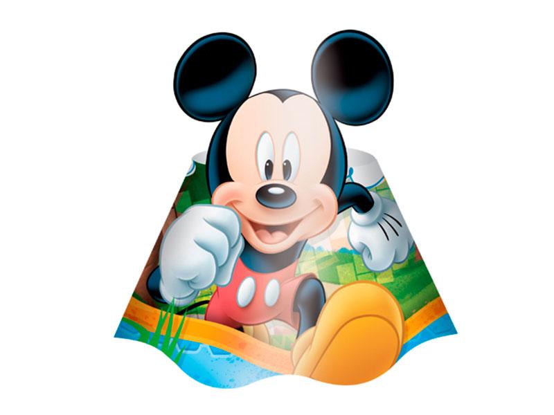 Chapéu de Aniversário Mickey Mouse Diversão c/ 8 unid.
