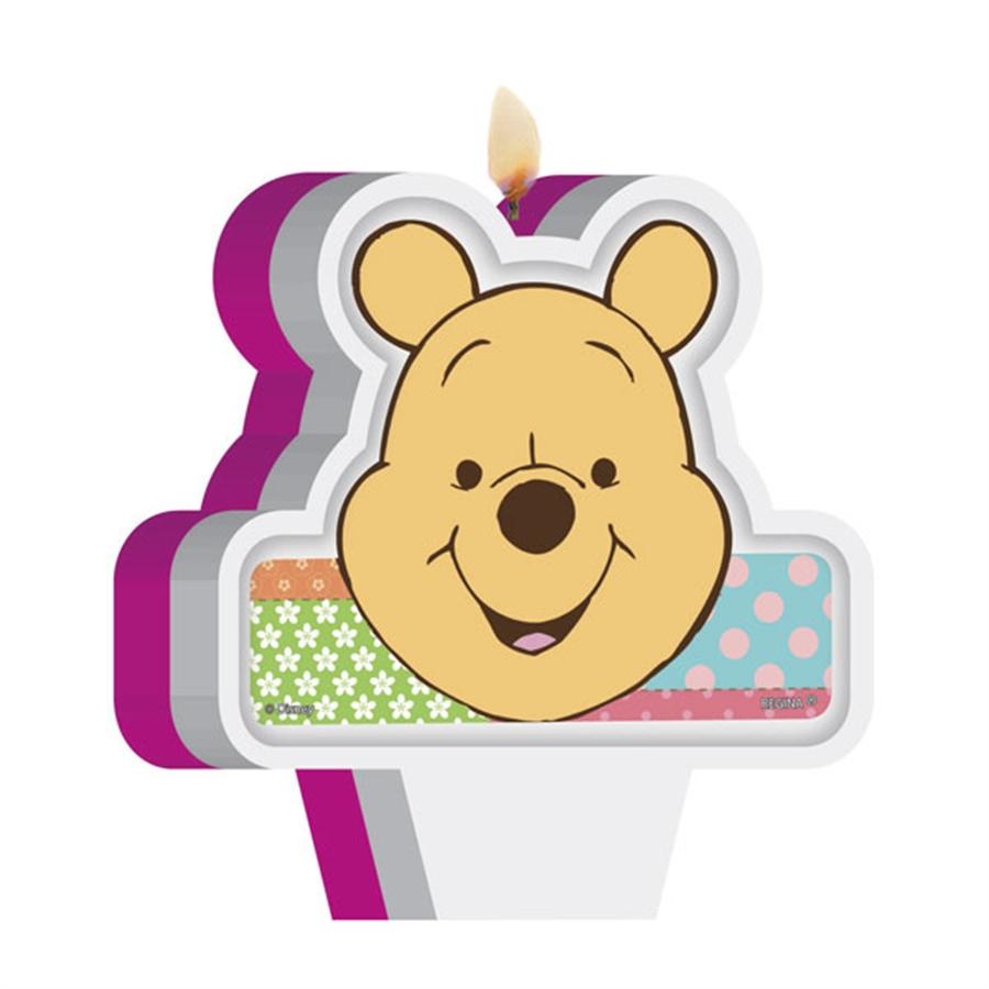 Vela de Aniversário Ursinho Pooh