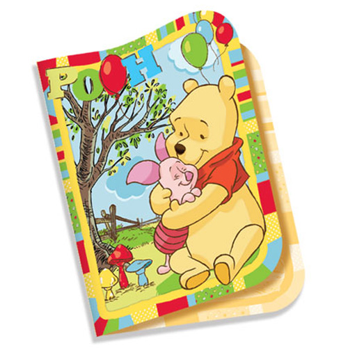 Convite de Aniversário Ursinho Pooh c/ 8 unid.