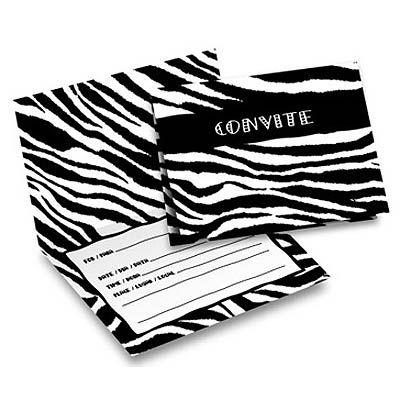 Convite - Zebra c/ 8 unid