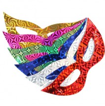 Máscara em Papel Metalizado