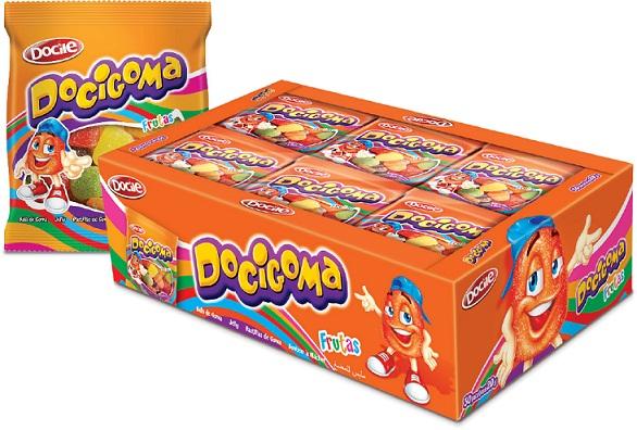 Bala de Goma Docigoma 30 pacotes com 20 gramas