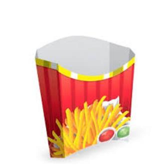 Caixa para Batata Frita 08 unidades - Pequena - Kaixote