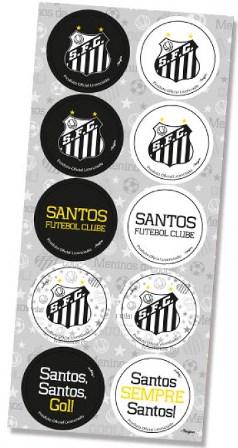 Adesivo Decorativo Redondo - Santos - c/ 3 unid.