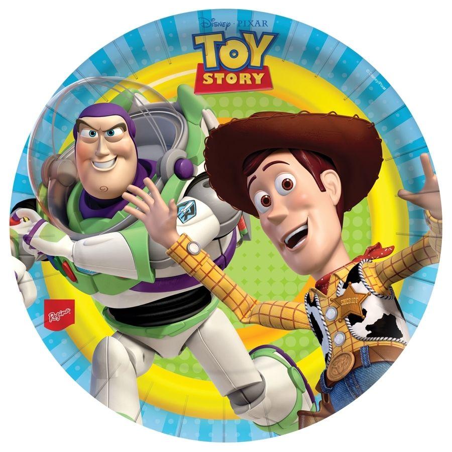 Prato Descartável Toy Story c/ 8 unid.