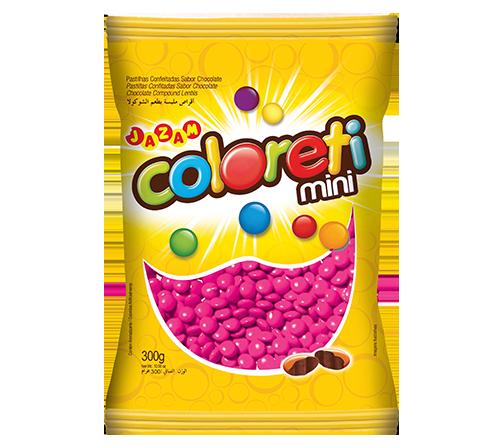 Confete Coloreti Mini 300g - Rosa