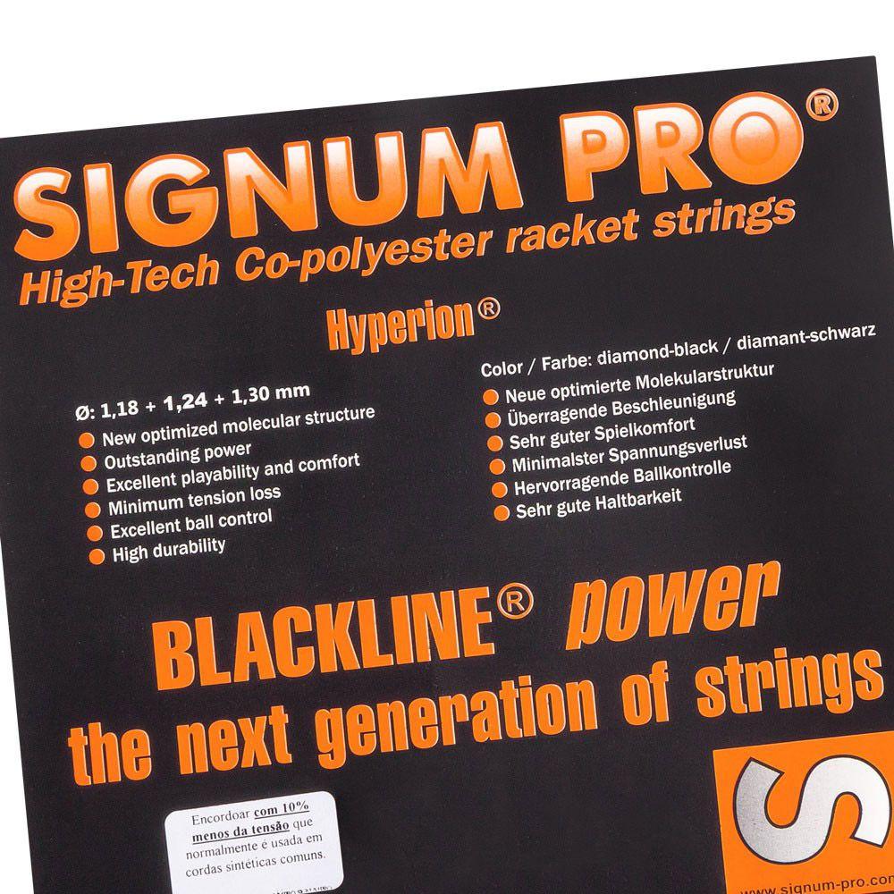 Corda Signum Pro Hyperion 1.30mm Preta - Set individual com 12 metros
