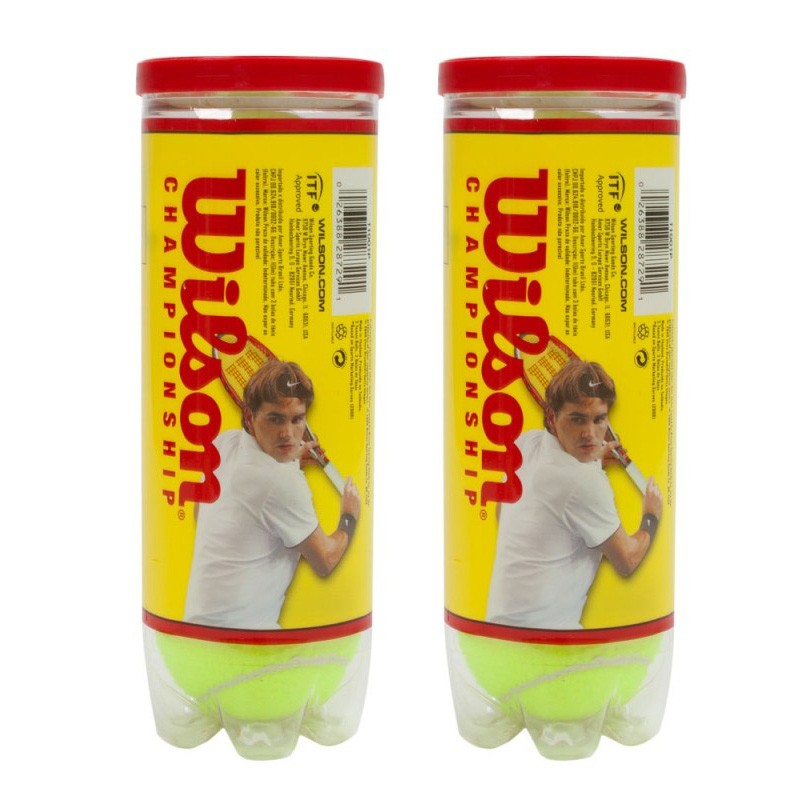 Kit com 2 tubos de bola de tênis Wilson Championship