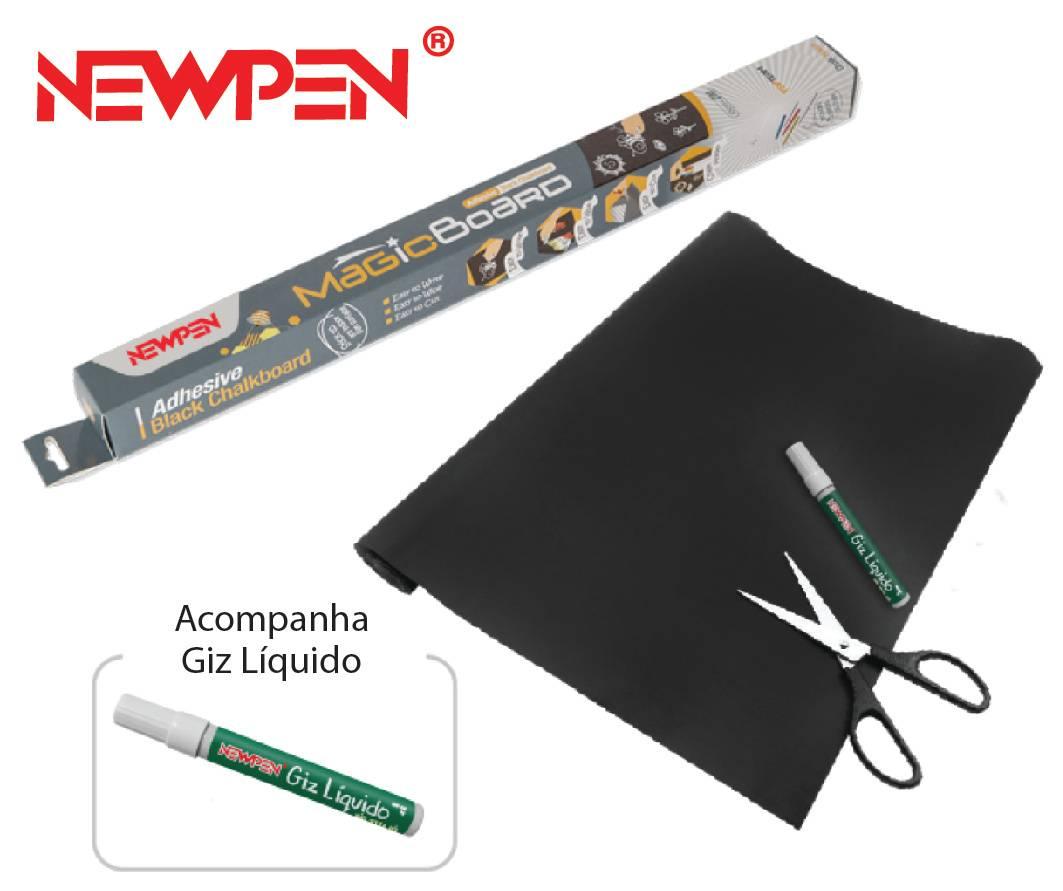 Quadro Preto 45cm x 2m Magic Board + Giz liquido branco