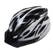 Capacete Ciclismo Absolute WT012 com Pisca Branco e Preto