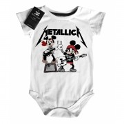 Body Bebê Rock Metallica Mickey - White
