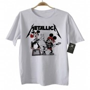 Camiseta de Rock Infantil - Metallica Mickey - White