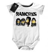 Body de Rock para Bebê  - Ramones Minions - White