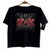 Camiseta de Rock Infantil - ACDC - Black Ice