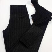 Conjunto legging e Top Maquinetado preto