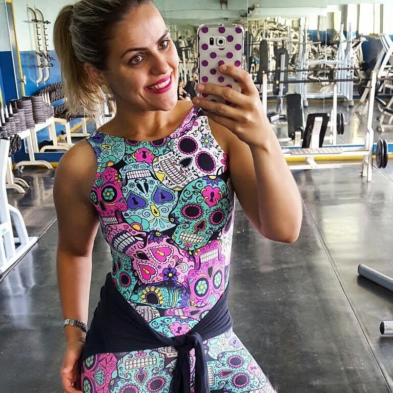 Body Suplex Light Caveira Mexicana  - Cintura Carioca Moda Fitness