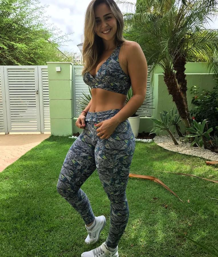 Conjunto Fitness Legging e Top Suplex Light  - Cintura Carioca Moda Fitness