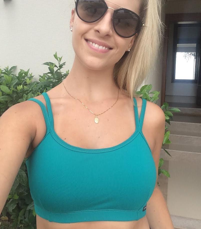 Top Sophia Verde  - Cintura Carioca Moda Fitness