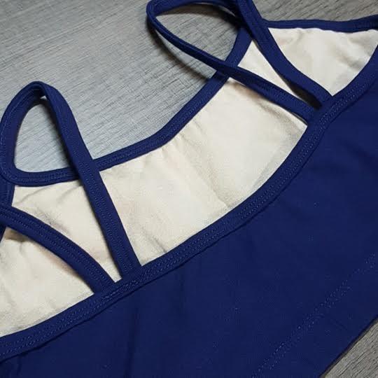 Top Sophia Azul Marinho  - Cintura Carioca Moda Fitness