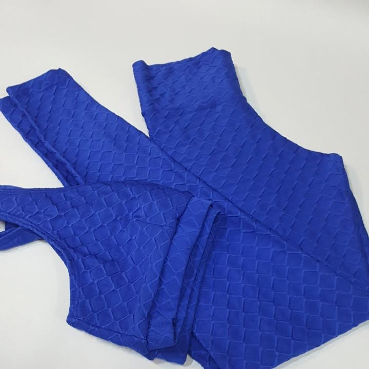 Conjunto Glow Azul Caneta  - Cintura Carioca Moda Fitness