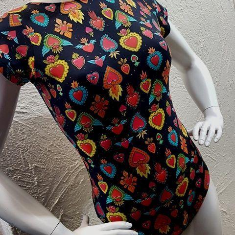 Body Coração Mexicano  - Cintura Carioca Moda Fitness