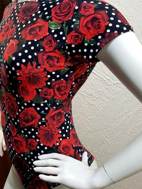 Body Rosas  - Cintura Carioca Moda Fitness