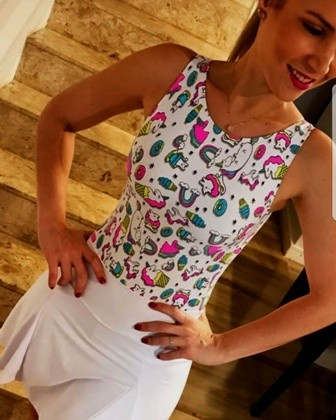 Body Unicórnios Branco  - Cintura Carioca Moda Fitness