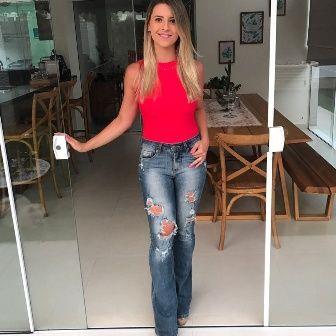 Body Vermelho Camiseta  - Cintura Carioca Moda Fitness