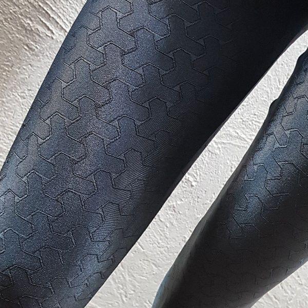 Legging Jacquard  Texturizada Grafite  - Cintura Carioca Moda Fitness