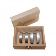 Kit Limitadores de Fresas (15mm,20mm,26mm e 35mm) - Zinni Gabaritos/Aluzini
