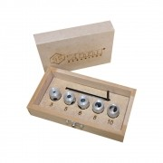 Kit Limitadores de Brocas (3mm,5mm,6mm,8mm e 10mm) -Zinni Gabaritos/Aluzini