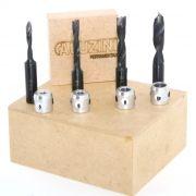 Kit Fresas(5mm,6mm,8mm e 10mm) + Limitadores- Aluzini