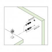 Tambor Minifix 15x12mm + Parafuso 6x32mm  (10 peças)- FGVTN