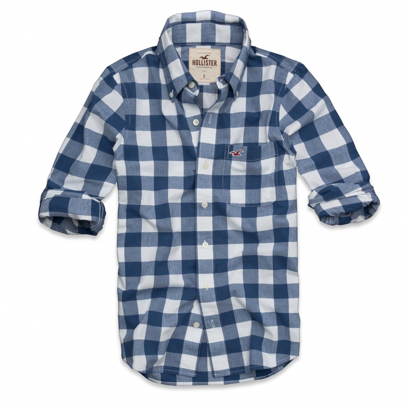 Camisa Xadrez Hollister Manga Longa - GD IMPORTS 9acfc2be9e7a0