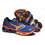 Mizuno Wave Creation 14 Azul e Laranja