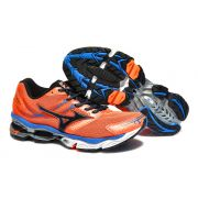 Mizuno Wave Creation 14 Azul Laranja e Preto