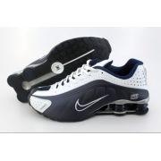 Nike Shox R4 Masculino - Azul Marinho e Branco
