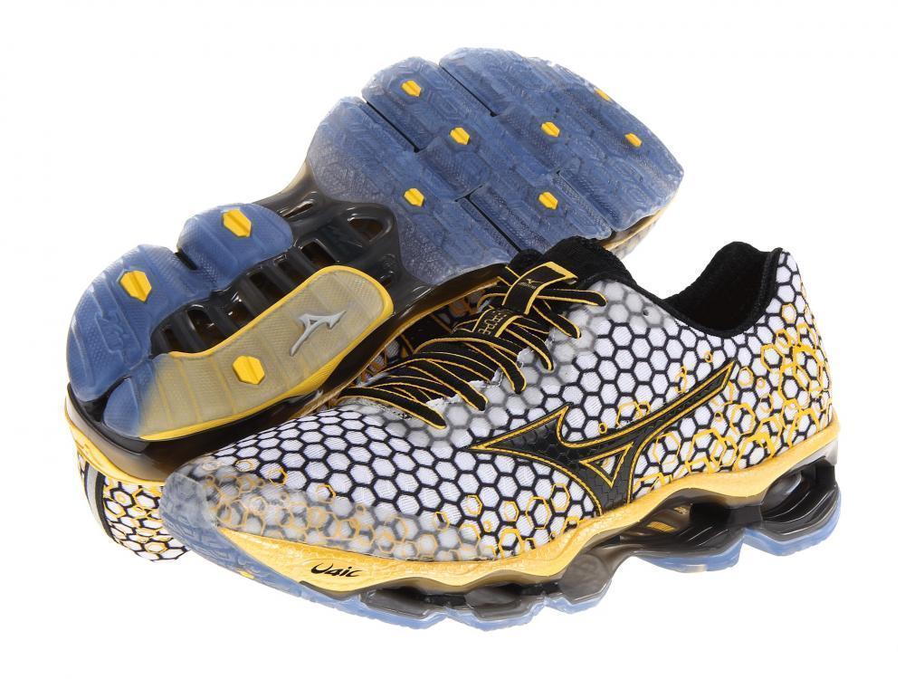 premium selection 41a9e 3b557 Mizuno Wave Prophecy 3 Masculino - Branco e Amarelo - GD IMPORTS ...