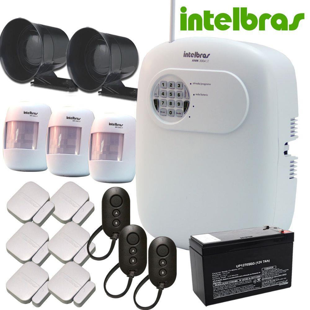 kit alarme sem fio intelbras 9 sensores ideal para comercio e residencia districam seguran a. Black Bedroom Furniture Sets. Home Design Ideas