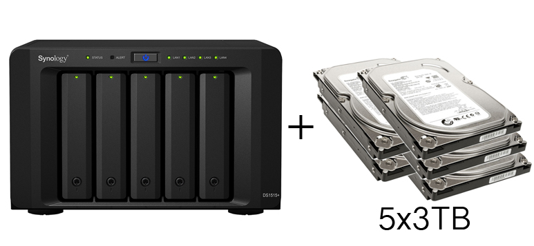 HD + Case Synology DiskStation DS1515+ 15TB  - Rei dos HDs