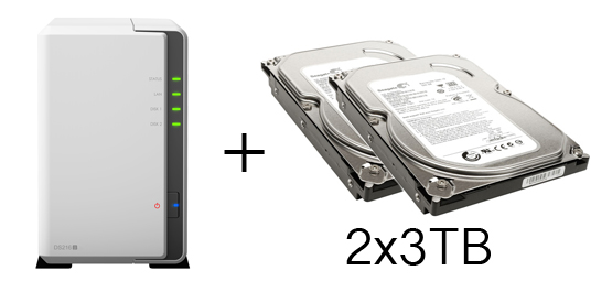 HD + Case Synology DiskStation DS216j 6TB  - Rei dos HDs